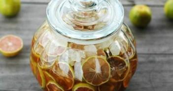 chanh đào ngâm mật ong đường phèn