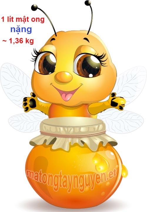 1 lít mật ong nặng bao nhiêu